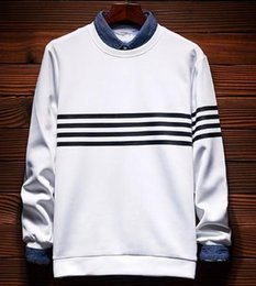 Wholesale Korean Sweater Fashion Boys - 2017New men's sweater long-sleeved T-shirt Korean trend of self-cultivation handsome boys shirt youth men's spring and autumn