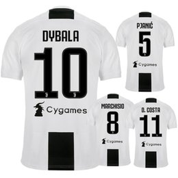 Wholesale Buffon Jerseys - Thait quality 2018 2019 DYBALA soccer jersey 18 19 JuventusING HIGUAIN BUFFON D. Costa MANDZUKIC football shirt