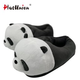 Wholesale plush costumes for adults - indoor flock plush furry cartoon slippers for adult warm dog shoes women animal house cosplay costume home winter anime slipper