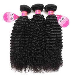 Wholesale brazilian afro hair weave - 8A Brazilian Curly Hair 3 Bundles Unprocessed Virgin Afro Kinkys Curly Human Hair Extensions Natural Color Free Shipping