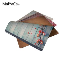 Wholesale wood hot pads - MaiYaCa 2017 Hot A Wood Background Sell New Small Size Mouse Pad Non-Skid Rubber Pad 220mmX180mmX2mm and 250mmx290mmx2mm