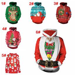 2019 tuta di natale 30style Natale grandi ragazzi ragazze bambini abbigliamento tuta con cappuccio swearshirt semplice manica lunga uomo donna festivo adulto sciolto abbigliamento selvaggio tuta di natale economici