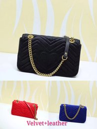 2ca9a001a75e Nice Velvet Bag Women Famous Shoulder Bags Real Leather Chain Cross body  Bag Fashion Handbags Women Bags 446744 443497