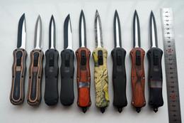 9 stili BM 3350 166 Infidell doppia azione fuori i coltelli anteriori McHenry design 440C acciaio nero finitura Plain coltello tattico D / A 3300 da
