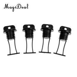 marines accessories Promo Codes - MagiDeal 4 Pieces Plastic Universal Marine Black Plastic Hull Drain Plug Universal for Kayaks Canoes Boats Replacement Accessory