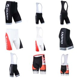 Wholesale blue mountain cycling - 2018 GIANT Mens Cycling Bib Shorts Bicycle Road Bike Coolmax Pad MTB Mountain Bike Clothing C2206