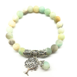 Moda europea e americana nuovi braccialetti di perline glassato Amazon pietra 8mm foglie fatte a mano perline turchese perline pendenti all'ingrosso da