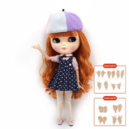 Wholesale Nude Toys - ICY Doll joint doll factory 230BL0145 long brown curly hair it suitable for cosmetic diy refit BJD Toys factory nude fashion