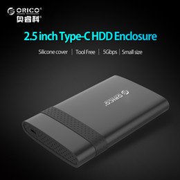 hdd gehäuse großhandel Rabatt Großhandel-ORICO 2,5 Zoll USB 3.1 Gen 1 Typ-C zu SATA 3.0 Super Speed HDD Fall Kostenlose Tools HDD Enclosure- (2538C3)