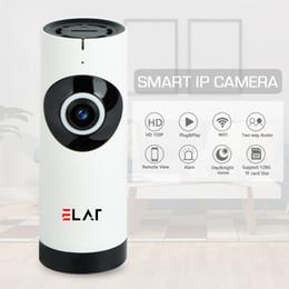 cámaras de seguridad en casa iphone Rebajas Cámara de seguridad para el hogar ELAF Lente de ojo de pez Cámara IP WiFi Monitor para bebé Voz bidireccional Panorámica con voz Android / Iphone