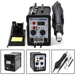 Wholesale Hot Air Iron - 8586 700W ESD Soldering Station LED Digital Solder Iron Desoldering Station BGA Rework Solder Station Hot Air Gun Welder