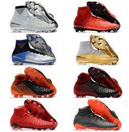Argentina 2018 zapatos de fútbol cr7 Mercurial Superfly zapatos de fútbol más baratos Hypervenom Phantom III para hombre Crampones de fútbol botas magista obra Blackout Suministro