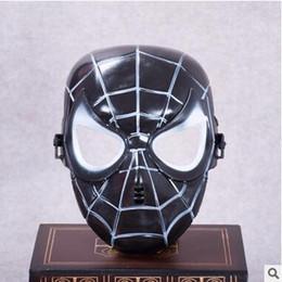 Masque noir spiderman en Ligne-Populaire Spiderman Masque Rouge Noir Spiderman Super-Héros Enfants Masque Masquerady Halloween Cosplay Masques Client Fête Nouveauté Masque Livraison Gratuite