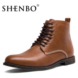 Wholesale chukka boots - SHENBO Brand Fashion Men Boots, Black Lace Up Men Chukka Boots, High Quality Ankle Boots