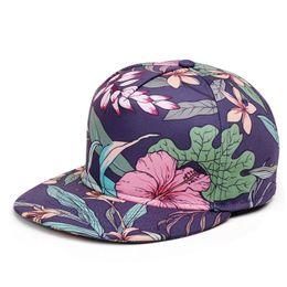 Wholesale Leopard Print Baseball Hats - Leopard Men Women Baseball Cap Snapback Printing Flowers Couple Hip Hop Hats Quality Cotton Caps Bone