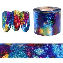 1M sfumatura cielo stellato Nail Foil blu carta olografica decalcomanie Decor Nail Art Sticker Decorazione accessori da