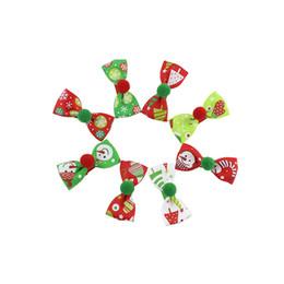 Bambini di Natale Arco Accessori per capelli Accessori per capelli Accessori per capelli da regalo fatto a mano fornitori