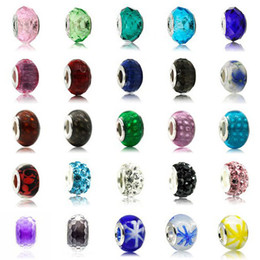 Wholesale Fascinating Holidays - Fascinating 100 Styles Handmade Loose Beads DIY Jewelry 5mm Hole-diameter European Colorful Glass Bead for Bracelets Necklaces
