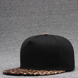 Tapa plana de leopardo online-Beckyruiwu Color sólido Sombreros de skate Hombres Bboy Flat Snapback Cap Adultos Hip hop Leopard enarboló Gorras de béisbol