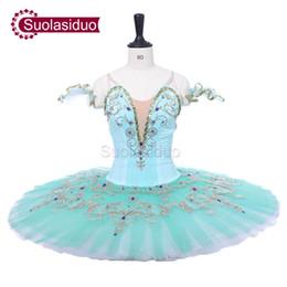 Concours de danse de ballet en Ligne-Océan Vert Professionnel Adulte Tutu de Ballet Le Don Quichotte Performance Scène Porter Femmes Compétition de Danse de Ballet Costumes Filles Ballet Jupe