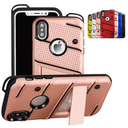 Wholesale Apple Mate - For Samsung S8 Plus Hybrid Armor Case Soft TPU PC Kickstand Shell Shockproof Back Cases Cover For iPhone 5 5s 6 6s 7 plus Huawei Mate 9 Pro