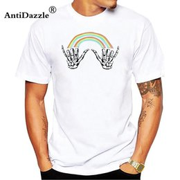 Antidazzle Louis Tomlinson Double Rainbow Hands T Shirt Man Casual Print  Pure Coon Male Costume O-neck Short Sleeve T-shirt 87a3005e5bac