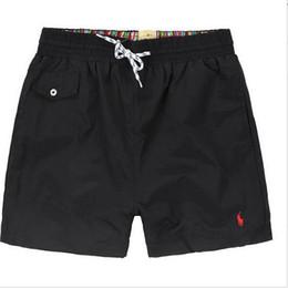 Оптовая продажа-лето polos мужчины короткие брюки бренд одежда купальники нейлон мужчины бренд пляжные шорты маленькая лошадь плавать одежда доска короткая большая лошадь логотип от