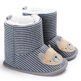Wholesale Knitted Baby Booties Wholesale - Winter Warm Baby Shoes Girls Boys Boots Children Cartoon Cute Toddler Newborn Snow Knitted First Walker Kids Babe Bear Booties