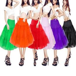 Черные красные белые короткие свадебные платья онлайн-Короткий тюль юбка юбки юбки юбки для свадебных свадебных платьев черный белый красный желтый нет-обруч кринолин юбки летние пачки платья CPA423
