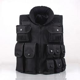 CS GO Tactical Vest Army Outdoor Body Armor Swat combattimento Caccia Molle Vest nero per gli uomini cheap body armor vests da giubbotti per corpi del corpo fornitori