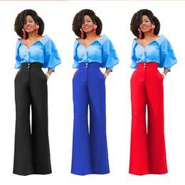 Pantalones de pierna ancha de la manera atractiva de las mujeres de la manera pantalones de la braga de la oficina del trabajo de la señora de la señora desde fabricantes