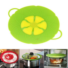 Wholesale Cooking Flower - New Fashion Silicone Lid Spill Stopper Cover For Pot Pan Kitchen Accessories Cooking Tools Flower Cookware Kitchen Supplies