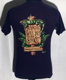 signos margaritaville Rebajas Margaritaville de las islas Caimán de Jimmy Buffett firma la camiseta azul de la camiseta 2018 de XS Camiseta