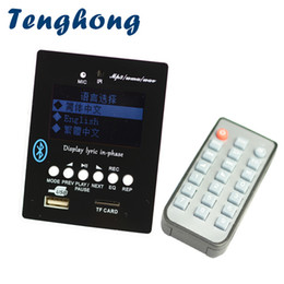 receiver decoder UK - Tenghong LED MP3 Decoder Board Bluetooth Audio Receiver MP3 Player Decoding Module With Recording WAV WMA AUX FM Lyric Display