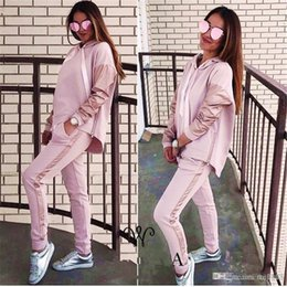 Wholesale Hoodie Promotion - 2018 Promotion Full Standard None Hooded Casual Polyester Solid Slim Europe And The Leisure New Lady Hoodie Suit