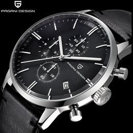 22864248340 Top Marca de Luxo PAGANI Design Cronógrafo de Couro dos homens Relógios de  Quartzo Moda Esporte Homens Relógio de Pulso relogio masculino