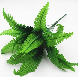 Wholesale Flowers Ferns - Artificial Flower Leaves Plants Pretty Fake Lifelike Plastic Persian Grass Lysimachia Fern floral decoration free shipping LLFA