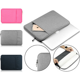 "macbook deckt Rabatt Laptop-Hülse 13 Zoll 11 12 13 15 Zoll für MacBook Air Pro Retina Display 12.9 ""iPad Soft Case Cover Tasche für Apple Samsung Notebook Sleeve"
