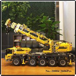 Wholesale Motor Built - IN STOCK 2606pcs LEPIN 20004 technic series Motor power mobile crane MK Model Building blocks Bricks Compatible 42009