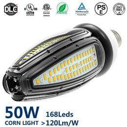 2019 luz del poste cuadrado Topoch UL LED bombilla de luz de calle 50W 40W 30W 120LM / W E27 E40 HID CFL Reemplazo 100-277V para el accesorio de iluminación cuadrado de la bellota del poste rebajas luz del poste cuadrado