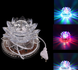 wholesale beads usa Coupons - Lotus Effect Light Auto Rotating 11W LED RGB Crystal Stage Light 51pcs Bead Lamp for Home Decoration DJ Disco Bar Best Gift
