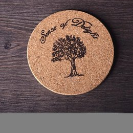 wood kitchen table Coupons - Cork Wood Coasters Tableware Mat Simple Style Disc Pad Home Kitchen Supplies For Eiffel Tower Table Decor 1 8zw ii