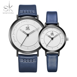 3bc02256c96d SK Brand New Watch Quartz Men Ladies Wrist Watches Analog Blue Fashion  Simple Leather Strap Valentine Love Birthday Gift Couple