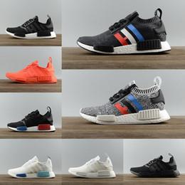 2019 zapatos corrientes baratos con descuento 2018 Runner Shoes R1 Monochrome Mesh Primeknit Discount Cheap Discount Mujer Hombre Zapatillas Zapatillas deportivas rebajas zapatos corrientes baratos con descuento