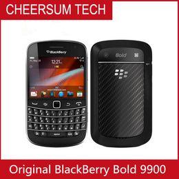 Mobiltelefone tastaturen online-entsperrt Original 9900 Blackberry Blod Touch 9900 entsperrt 3G Smartphone WiFi GPS 5.0MP Kamera QWERTY-Tastatur Refurbished Handy