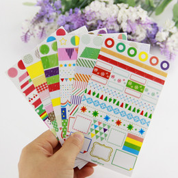 Rainbow memo pads en Ligne-6 PCS BRICOLAGE Transparent Arc-En-Couleur Papier Autocollant Mémo Pads Creative Décoration Journal Scrapbook Label Bureau Papeterie Cadeau