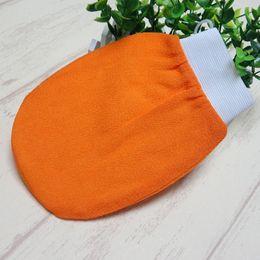 2019 scrub arancione arancio kessa guanto turco hammam scrub guanto esfoliante scrub guanto da bagno guanto di pelle asciugamano corea guanto per usa sconti scrub arancione