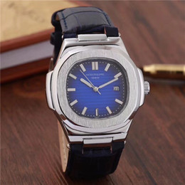 Wholesale 41 Mm - new 41 mm Dial Swiss Luxury Brand Men's Quartz watch High Quality Leather Band Replica Watch For Man NAUTILUS series Watches montre