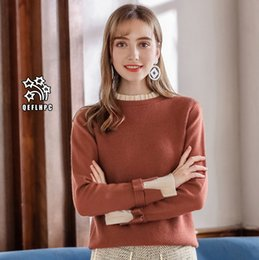 2018 Fashion casual ladies blouse Round collar Knitted sweater Winter and spring  Keep warm Irregular Women Sweaters Long Sleeve Crew Neck A3 c90b8cc28