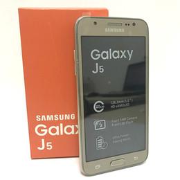 """Original Samsung galaxy J5 J500F desbloqueado telefone celular Quad core Snapdragon 1.5 GB RAM 16 GB ROM 5.0 """"WCDMA telefone celular recondicionado de Fornecedores de quad core 4.5 celular"""